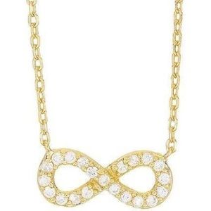 Argento Vivo gold-plated infinity pendant necklace